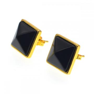 Black Onyx Birthday Stone Stud Earrings