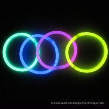 bracelet luminescent avec fluorescent