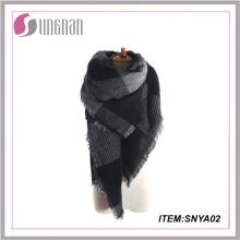 Yiwu recién llegado de impresión bufanda de tartán bufanda pashmina bufanda de cachemira