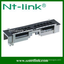 cat 5e 12 port wall mount patch panel