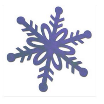 Büttenpapier Schneeflocke Verzierungen für Weihnachten