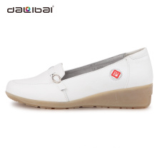 lady comfortable upper leather sole rubber hospital work shoes