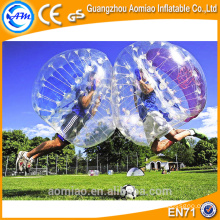 Nuevamente la bola de parachoques clara del cuerpo del dia 1.5m, bola inflable de la burbuja del fútbol para la venta