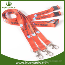 Custom Druck Polyester Lanyards mit Hummer Klaue für Party