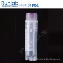Viales criogénicos de rosca interna de 2 ml con sello de arandela de silicona