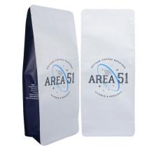 Customized Logo Printed Matte Square Bottom Bags Zipper Ziploc Coffee Packaging Snack Food Plastic Bio-Degradable Bag