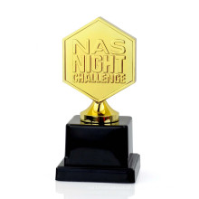 Newest wholesale custom shape sport award trophy and gifts , metal golden star trophy cup
