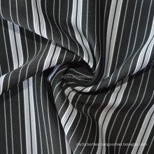 Shantou factory wholesale 75D yarn dyed polyester 40D nylon stretched striped fabric, fine lines polyester nylon striped fabric