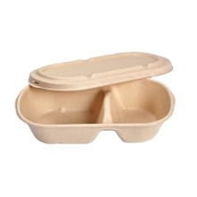 Biodegradable pulp grid lunch box