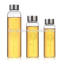 Wholesale World Cup Hot Unique Portable Voss Glass Water Bottle