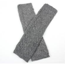 Senhoras moda acrílico malha inverno braço aquecedor (yky5449)