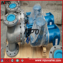 Cast Steel Flanged Gate Valve with Electric Actuator