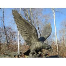 Decoração do jardim de bronze artesanato animal estátua de metal da águia