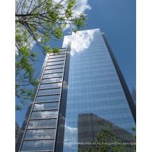 Безрамное закаленное Прокатанное стекло для Ненесущей стены здания
