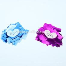 wholesale foil pink or blue gender jile factory confetti poppers