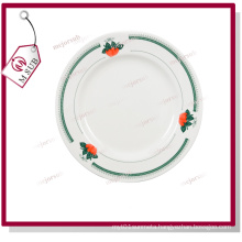 8′′rim Plate with Green Strawberry