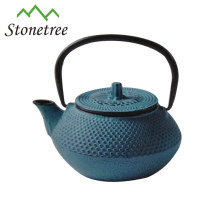 Wholesale Blue Enamel Cast Iron Turkish Double Tea Pot Kettle Set