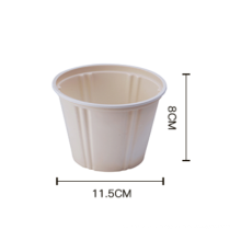 Disposable eco-friend water bowls 460ml / Eco-friendly  corn starch Bowl with lid