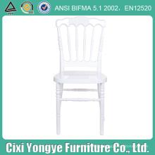 Cadeira plástica durável de Napoleon da cor branca para o evento