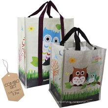 Eco friendly large capacity laminated pp non woven packaging bags for shopping