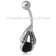 Surgical Steel Kool Katana Belly Rings Jeweled Ball