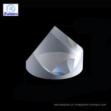 Pirâmide de canto dos prismas do cubo de 25.4mm BK7 sílica fundida UV