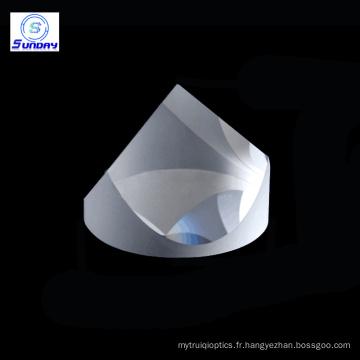 Silice fondue UV de la pyramide BK7 de prismes de coin de 25,4mm