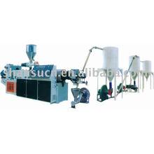 Linha de produção de granulação de plástico e madeira