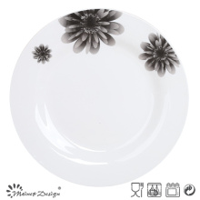 "10.5"" Round Ceramic Decal Porcelain Plate"