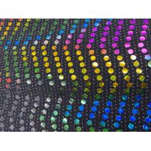 Novo estilo de tecido de lantejoula metálico com lantejoula