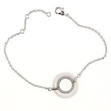 Bracelet en bijoux en argent sterling et en céramique (T20015)
