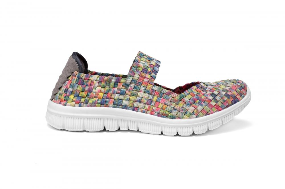 Colorful Woven Design Dance Shoes