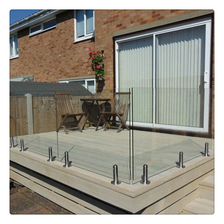 Toughened Deck Railing Glass