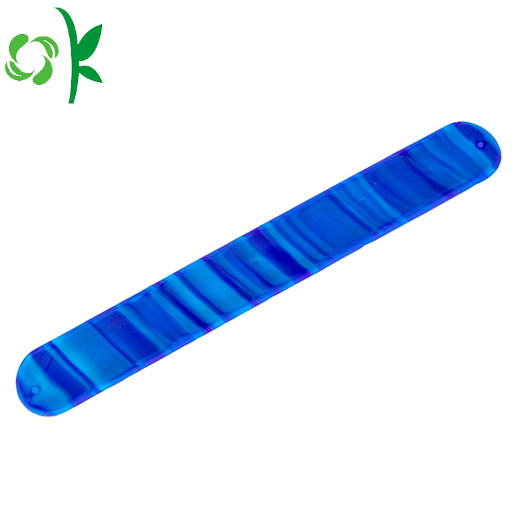Blue Silicone Slap Bands