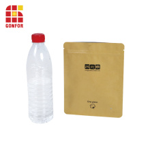 Bolsa de papel de embalaje de papel Kraft con cierre de cremallera