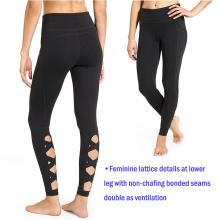 Pantalon de yoga de haute qualité femmes Fitness Wear Gym vêtements Yoga pantalons avec treillis