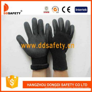 Black Nitrile Sandy Finished Glove-Dnn459