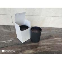 Acceptez la bougie de soja parfumée bonne odeur adaptée aux besoins du client dans le pot en verre noir