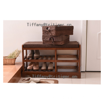Factory modern wood white brown color shoe cabinet