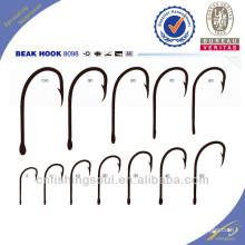 FSH037 8098 ganchos de pesca de aço de alto carbono ganchos de pesca
