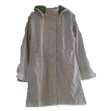 Dots Hooded Reflective PU Hooded Raincoat/Rain Jacket