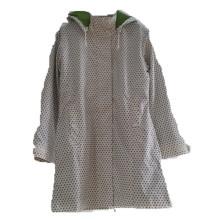 Dots con capucha Reflective PU Hooded Raincoat / Rain Jacket