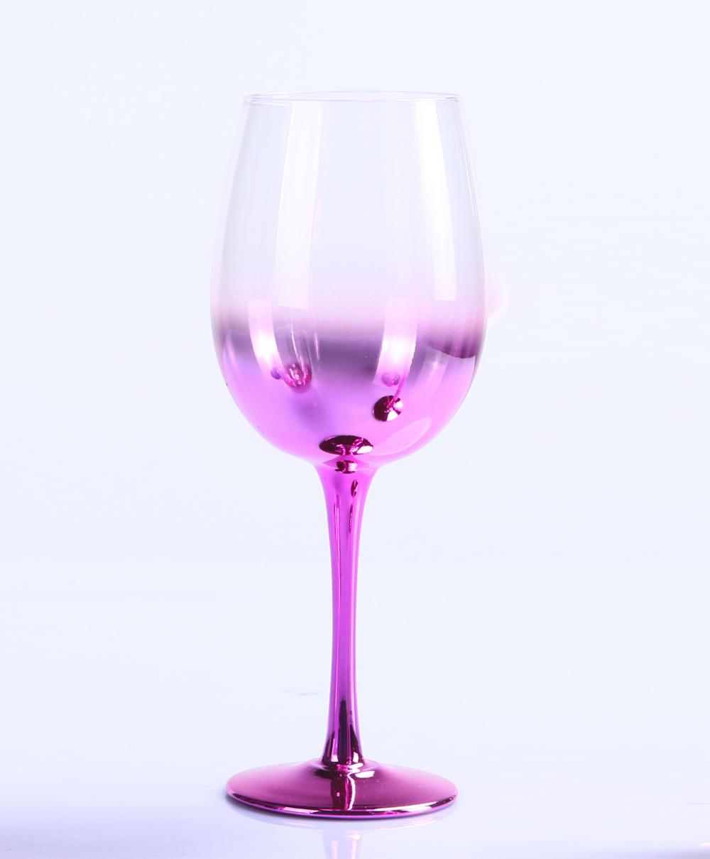 Br 9988 3pink Metallic Ombre Wine Glass Goblets