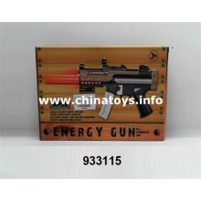 Nueva pistola de juguete B / O de plástico con silenciador (933115)