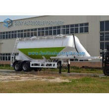 2 Axle 30 Cbm Dry Bulk Powder Tanker Trailer, Carbon Steel / Stainless Steel / Aluminum Cement Tank Semi Trailer