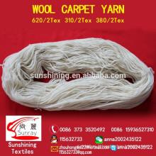 100% de fils de laine pour tapis 310tex / 2