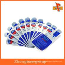 Embalagem plástica comercial feita sob encomenda da forma para o alimento / medicina / cosméticos feitos pela fábrica