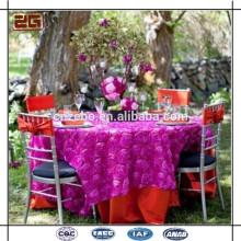 elegant cheap ruffled rosette 90 inch round linen table cover cloths