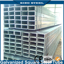 Tubo cuadrado o rectangular de hierro galvanizado Q235 / Q345
