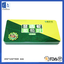 Rectangular Medicine Tin Case for Kids